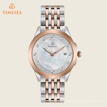 Reloj del vestido del acero inoxidable del cuarzo de las mujeres, color: Dos tonos 71197