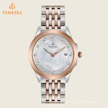 Mulheres relógio de quartzo em aço inoxidável vestido, cor: dois tons 71197
