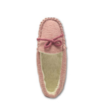 OEM manufacturer custom for Women'S Suede Moccasins high quality soft pink jersey upper moccasin slippers supply to Bangladesh Exporter