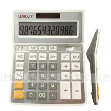 12 Digitas Dual Sliver Metal Metal Color Office Calculator (CA1092B-S)
