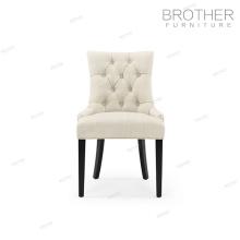 Elegante silla de banquete de marco de madera con respaldo moderno del fabricante de muebles