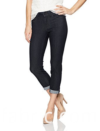 528women S Cotton Skinny Jeans Slim Fit Textured Capri Denim Trousers