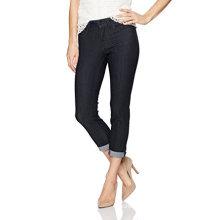 Jeans de Algodão para Mulher Texturizado Capri Denim Trousers