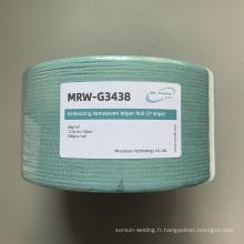 Rouleaux de polyester de cellulose filé vert