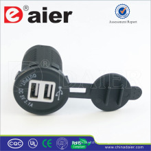 Adaptador do carregador de Daier 5V 3A USB / soquete do carregador de USB / soquete de USB