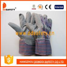 Серый ПВХ перчатки с полосой сзади. (DGP109)