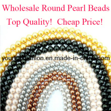 Pearl Beads, Discount Round Pearl Beads, Cheap Pearl Beads, Jewelry Accessories
