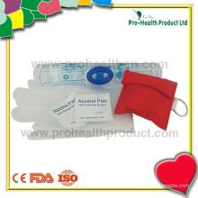 Комплект CPR с перчатками и спиртовой подушечкой (pH04-05)