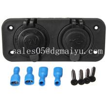 12V Dual USB Adaptateur Cigarette Power Socket pour voiture