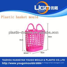 Cesta de fruta de plástico moldeado proveedor de molde de la cesta de inyección en taizhou zhejiang china