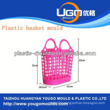 plastic fruit basket moulding supplier injection basket mould in taizhou zhejiang china