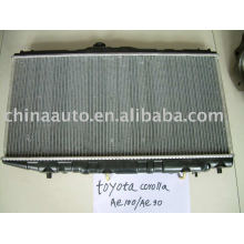 Radiador de enfriador de aceite de aluminio para TOYOTA COROLLA