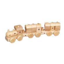 Mini trem de brinquedo de vapor de madeira