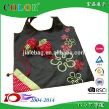 Hot folding fruit shape reusable promotion foldable polyester bag