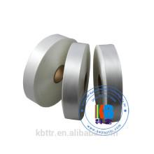 Etiqueta de cuidado da lavagem do cetim da impressão feita sob encomenda poliéster tecida para o vestuário