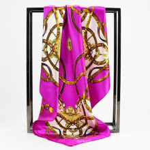 Fabricación de China mujeres cuadrado satén corbata oficina dama bufanda