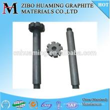 rotor de grafite anti-oxidação e eixo para fundição e fundição
