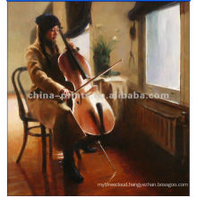 High Quality Traditional Music Artist Oil Painting