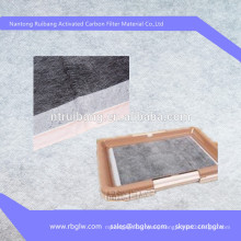 Manufacturing activated carbon air filter mat for silica gel cat litter