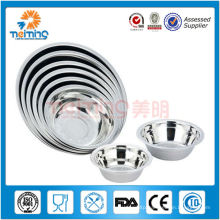 China wholesale cheap stainless steel salad bowl ,soup bowl