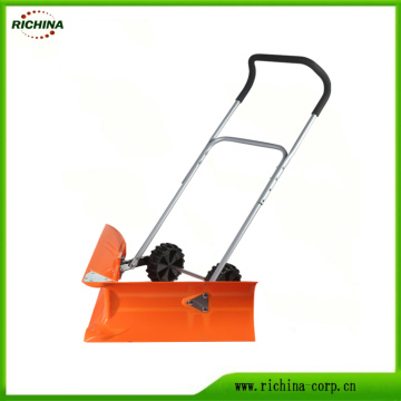 Manual Snow Pusher with Right-Angle Head