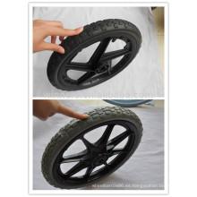 rueda de plástico habló rueda bicicleta sólida neumático 16x2.125