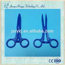 Medical surgical disposable hemostat forcep
