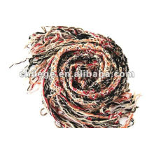 2012 fashion woolen warp knitted ruffle mufflers ring scarf