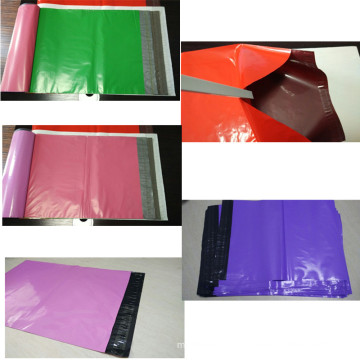 Light-Weight Plastic Color Garment Bag with Adhesive Seal
