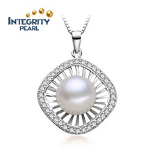 Colgante de perlas de moda de agua dulce 10-11mm Perla de perlas AAA colgante de perlas naturales de joyas
