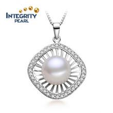 Pendentif perle de mode eau douce 10-11mm Bouton perle AAA Pendentif perle naturel bijoux