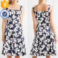 Multicolored Pleated Printed Cotton Sleeveless Mini Summer Dress Manufacture Wholesale Fashion Women Apparel (TA0296D)