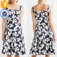 Multicolored Pleated Printed Cotton Sleeveless Mini Summer Dress Manufacture Wholesale Fashion Women Apparel (TA0296D)