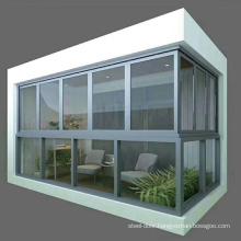Modern balcony glass house verandas glass  aluminum window