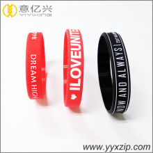 Custom festival Bracelet Adjustable Silicone Wristband