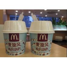 Бумажный стакан для мороженого с двойным полиэтиленом