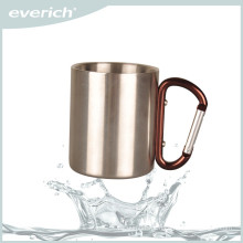 Factory direct sale silver stainless steel beer cup with handle