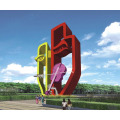 Escultura de acero inoxidable exterior color
