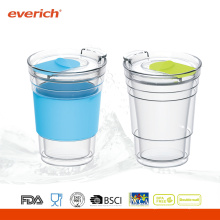 Promotional 300ml Wholesale Glass Cups With Silicone sleeve