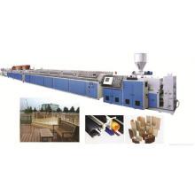 Línea de producción de perfiles de paletas plásticas de madera