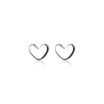Stainless Steel  Mini Small Love Heart Stud Earrings For Women Student Teen Jewelry Gift