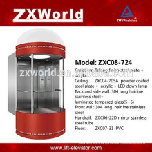 ZXC08-724 Full Glass Panoramic Passenger Elevator