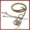 Cadeia de cintura metálica bonita chapeada, cadeia de cintas de design de coração de moda feminina
