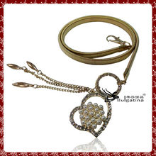 Beautiful Metal Waist Chain Gold Plated,Fashion Heart Design Girls Belt Chain