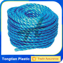 Cuerda de barco de nylon torcida caliente de la venta cuatro filamentos / cuerda de amarre