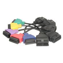 Color cinco adaptadores para FIAT ECU exploración Multiecuscan A1 A2 A3 A4 A5 Fiatecuscan Cables azul