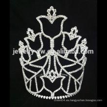 Corona nupcial blanca nupcial de la corona del pelo de la boda de la tiara