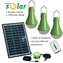 Новый портативный Солнечный дом CE lights крытый дома; 3W Солнечный свет; дома солнечные дома огни с PV панели солнечных батарей (JR-SL988 серия)
