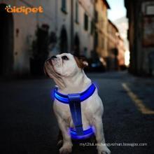 Resplandor LED arnés perro mascota intermitente iluminar
