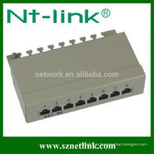 8 puertos cat5e cat6 rj45 stp patch panel